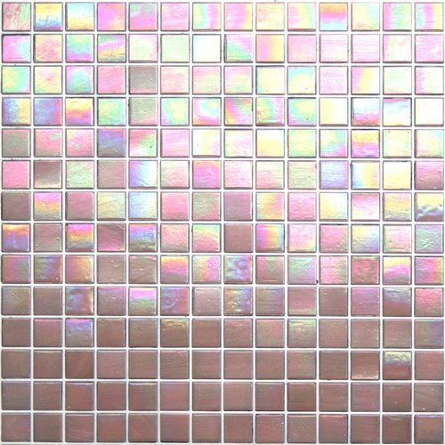 Kaleidoscope ColorGlitz Iridescent Glass Mosaic Tile, sold by the 1.15 s.f. sheet - Premier Pink