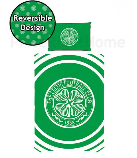 This Celtic FC Pulse Single Duvet Cover Set features the club crest and is ideal for any fan. Free UK delivery available.