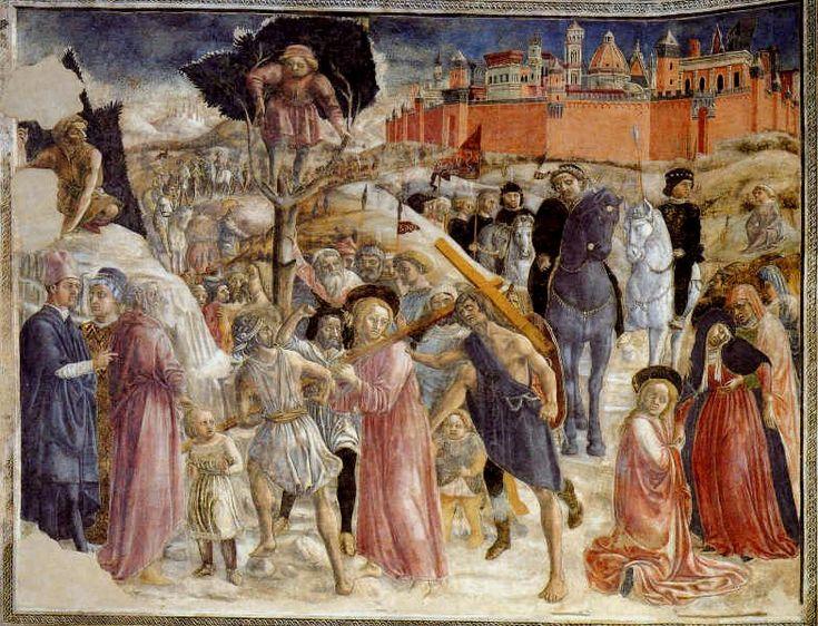Веккьетта. «Путь на Голгофу». Фреска.1450-53гг. Баптистерий собора, Сиена.