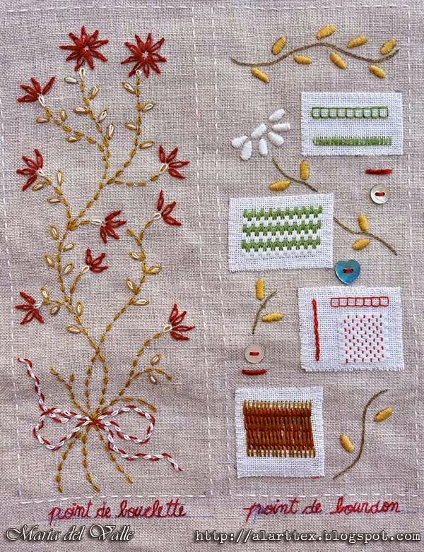 Mon cahier de broderie - Page 1 - side 2 - finished