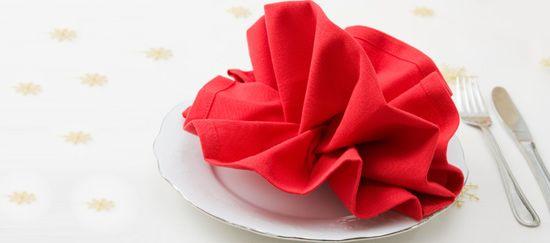 Formas elegantes de doblar servilletas