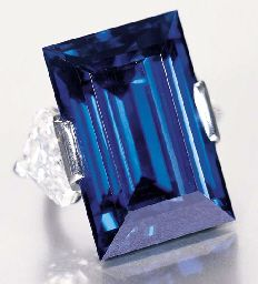 The Rockefeller Sapphire, 62 carats, regarded as the highest-quality sapphire in the world.