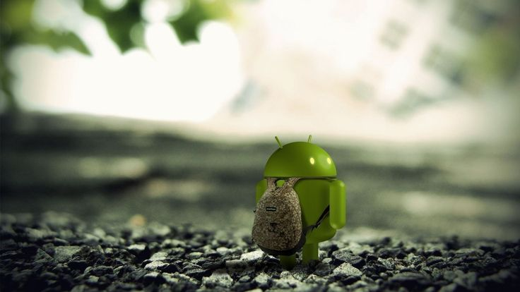 A Very Cute Android Packing His Bags And Leaving Download More Of Such Wallpapers From