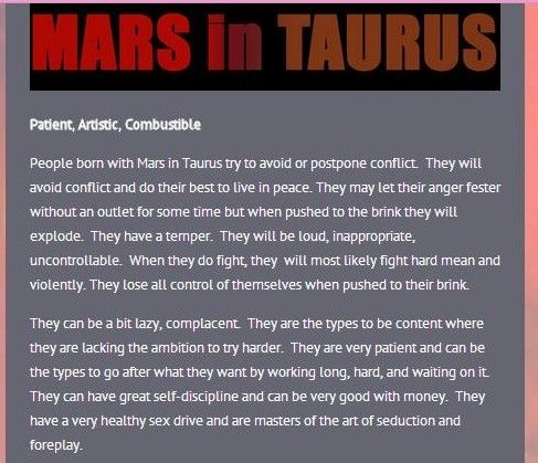 What Sign Is My Mars In