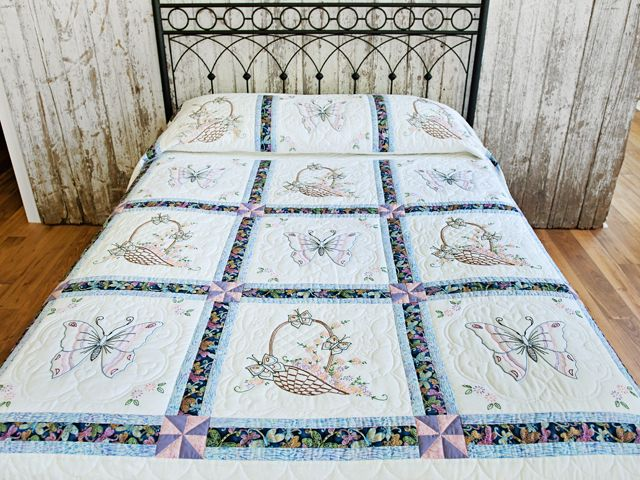 Embroidered Quilt Wonderful Specially Made Amish Quilts