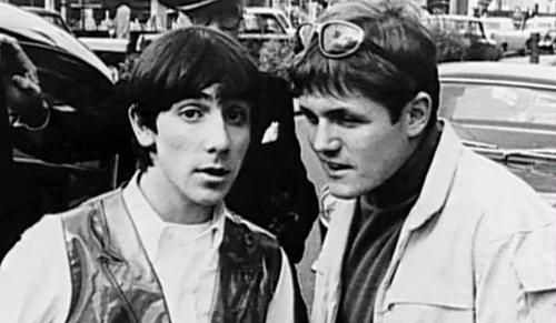 Keith Moon of The Who and Bruce Johnston of The Beach Boys