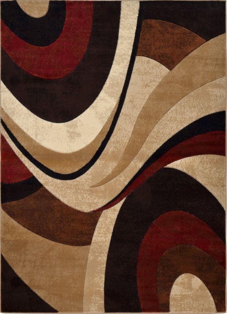Home Dynamix Tribeca Abstract Brown Red Area Rug Reviews Wayfair