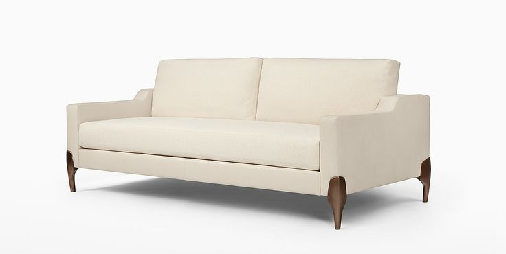 Chalk sofa by caste design beach street carriage house for Chaise carriage