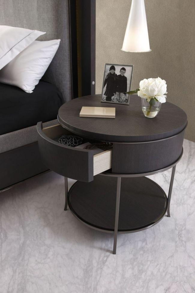 Runder Nachttisch Holz Schublade Mobil Fresno Nachttisch Design