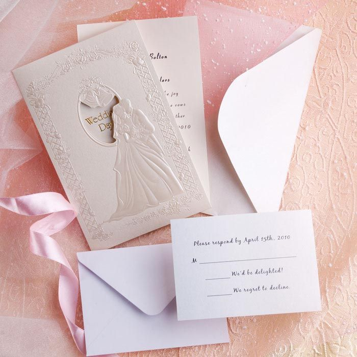 wedding party invitation message%0A Wedding Invitations Online Romantic Couple in Wedding Folded Wedding  Invitations