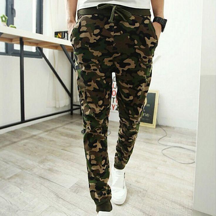 Nouveaux pantalon 2015 pour hommes Camouflage militaire Styles pantalons hommes Joggers Baggy pantalons hommes sport pantalons Pantalones Hombre(China (Mainland))