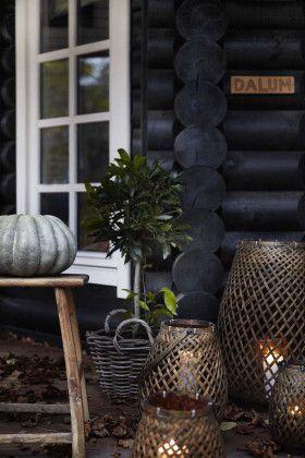 Black stained log cabin in Danmark – #black #Cabin…
