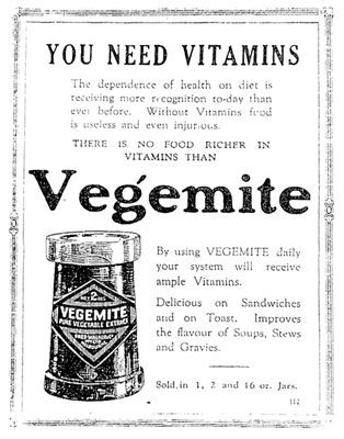 Old Vegemite Advertisement. Would be nice on a canvas.