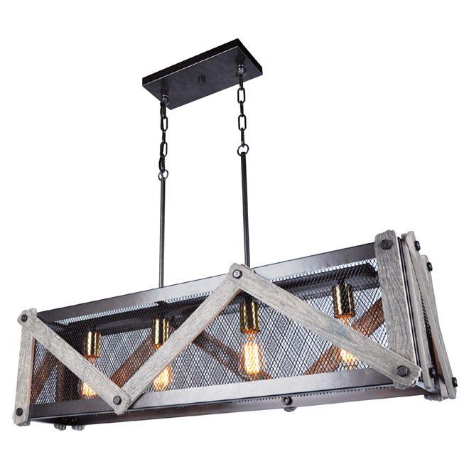 Suspension à 4 lumière «Stalla»