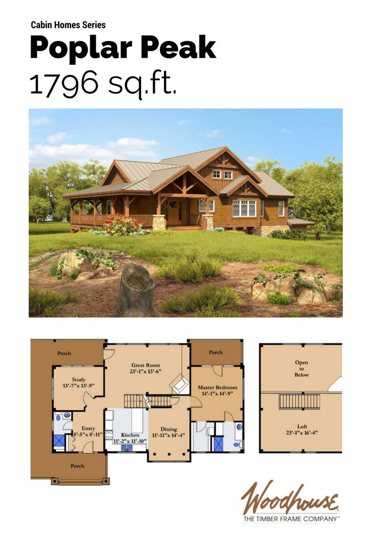 427 best awesome log home floorplans images on pinterest for Sleeping cabin plans