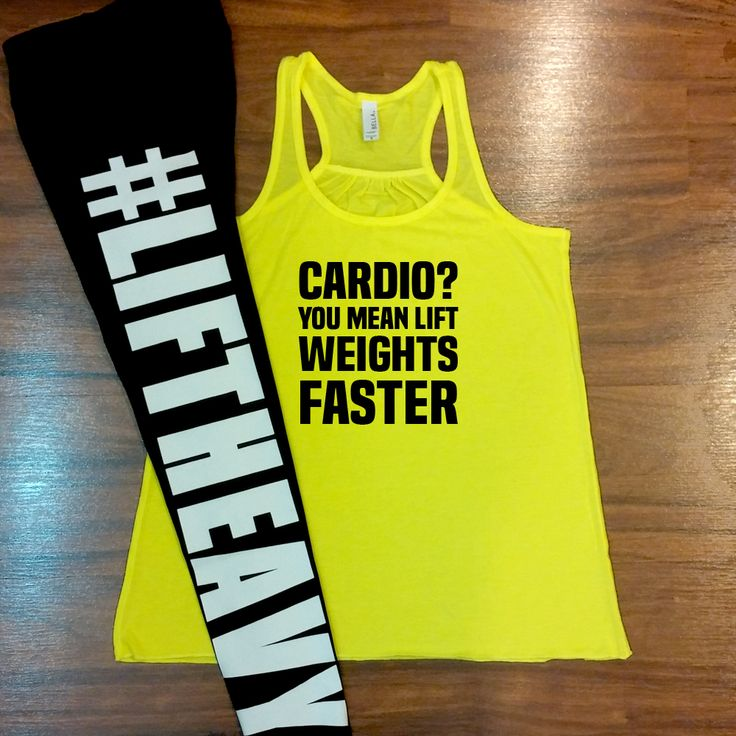 Cardio? You Mean Lift Weights Faster Shirt - Lift Heavy Leggings - Cute Gym Outfit