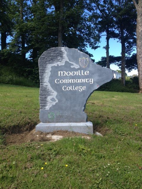 New limestone sign - Moville Community College