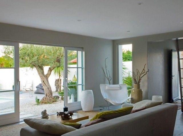 belle decoration salon nature zen