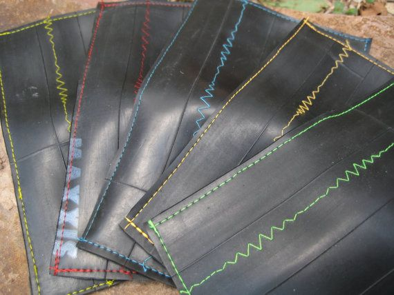 Mens Slim Wallet  Recycled Bike Tube Wallet  by MoabBagCompany, $20.00