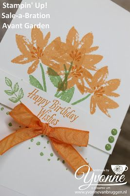 Yvonne is Stampin' & Scrapping: Stampin' Up! SAB Avant Garden Birthday card #stampinup