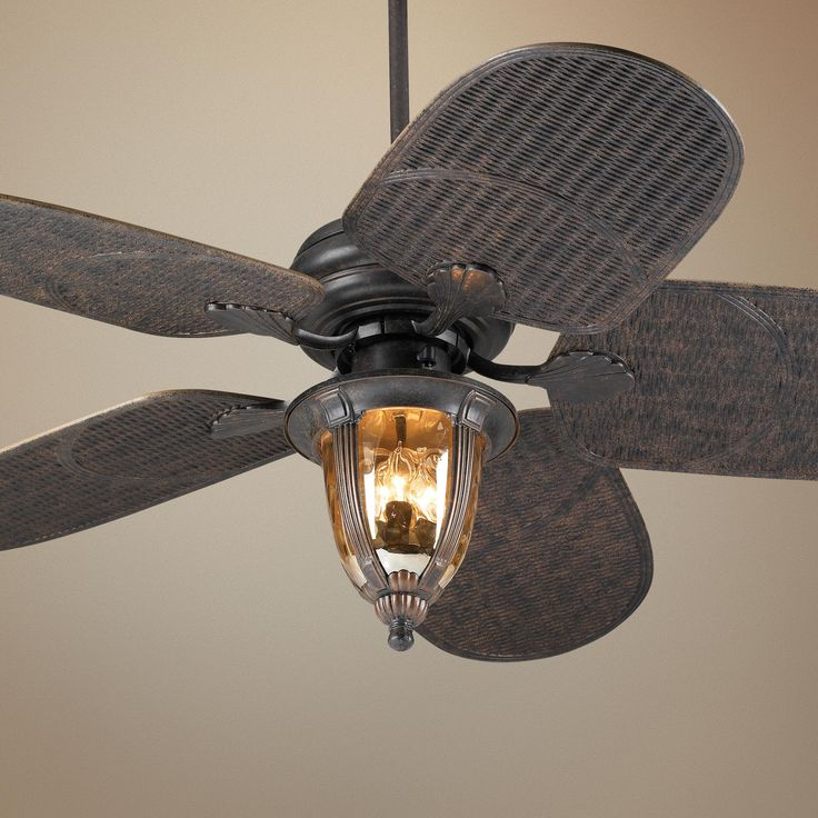 "Tropical Outdoor Ceiling Fan: 52"" Casa Vieja Tropical Veranda Bronze Outdoor Ceiling Fan"