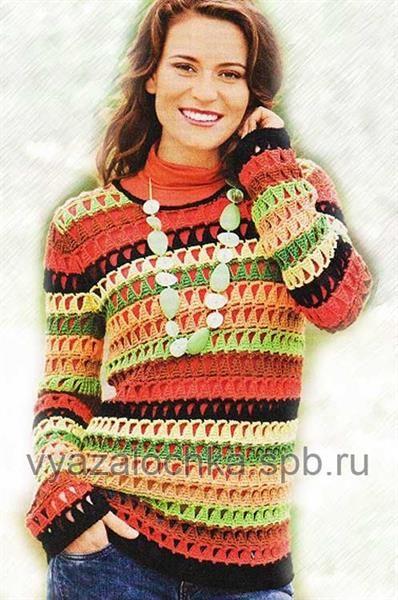 Полосатый свитер связать