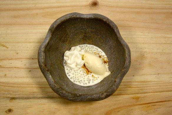 Postre inspirado en el arroz con leche.