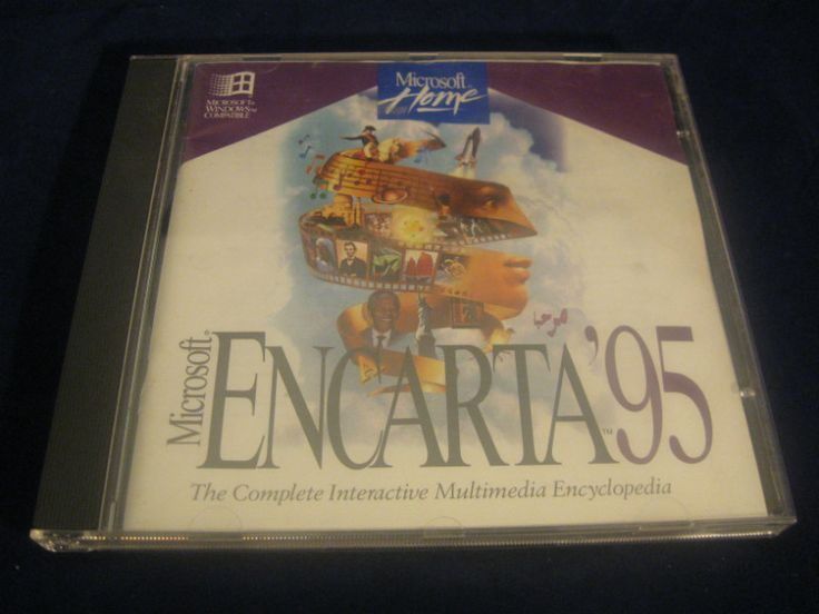 #microsoft #encarta95 #computer #vintage #collectibles #software #cdrom #program #ebid
