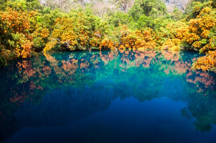 Amazing Khoun Kong Leng lake, Tha Khaek, Laos