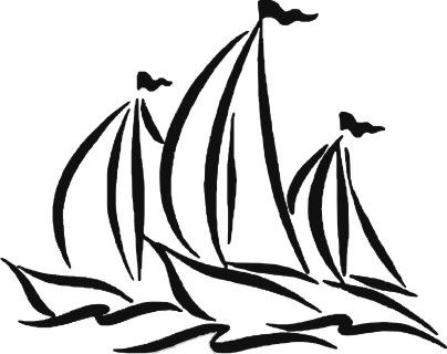 Sail Boats Decal, boating decals, Boating stickers, boat and ...