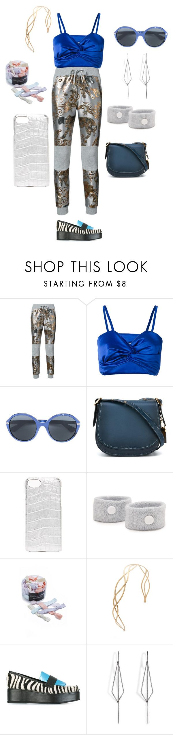 """""""dress like you're already famous"""" by emmamegan-5678 ❤ liked on Polyvore featuring Philipp Plein, Sadie Williams, Gucci, Coach, Valenz Handmade, Flight 001, Kitsch, House of Holland, Diane Kordas and modern"""