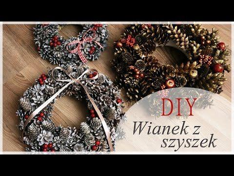 *DIY* Wianki z szyszek - pomysł na tani prezent świąteczny :) - YouTube