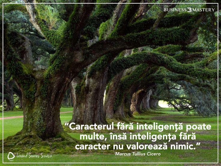 Inteligența fără caracter nu valorează nimic!