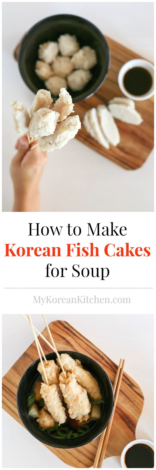 """How to make Korean fish cakes (Eomuk, Odeng) for """"soup"""" from scratch - Easy and Healthy! You'll love it! 
