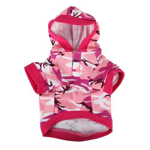 Pink Camouflage Hoodie Pet Dog Clothes Camo Sweatshirt-S Size - http://www.thepuppy.org/pink-camouflage-hoodie-pet-dog-clothes-camo-sweatshirt-s-size/