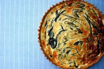 Wild garlic and nettle quiche with a Lincolnshire Poacher and ground elder pastry crust from Belleau Kitchen