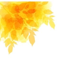 Fall leafs watercolor background vector