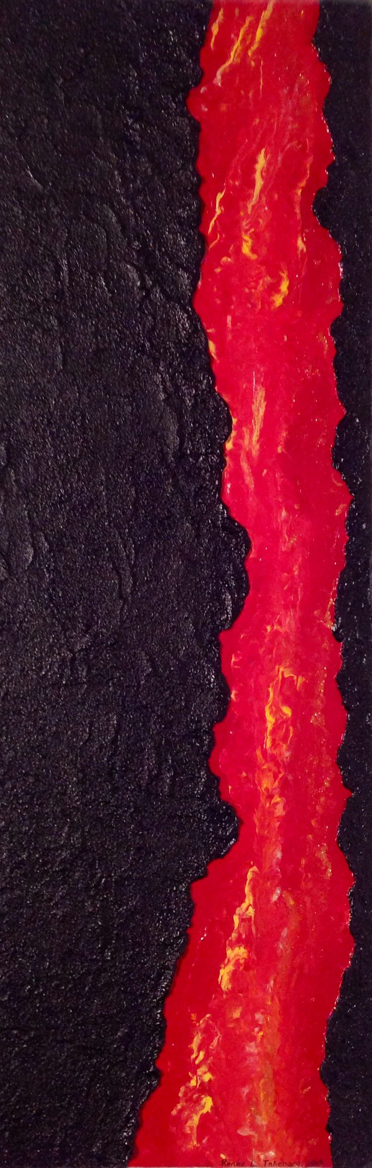 'Flowing Lava' by Renee Takehara is hot but won't burn a hole in your pocket
