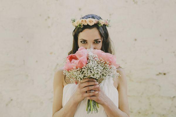 Corona de flores Bourguignon Floristas