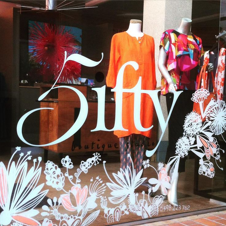Welcome Spring, we love your explosion of new growth, bold colours and heady scents  5ifty has bloomed thanks to @libbynobletsunshine pop in for a peek...we feel pretty  #shopbendigo #explorebendigo #springdisplay #shopwindow #bendigoartist #handdrawn #freehanddrawing
