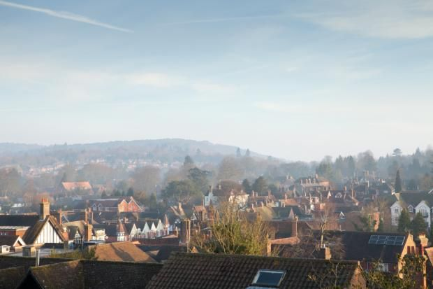 Rooftop views over Haslemere - turns out that this is the view from our top floor bedroom. How sweet is that?