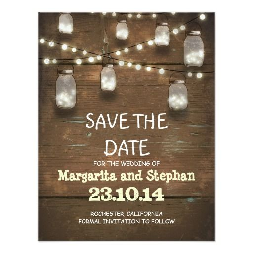 Best Rustic Country Save The Date Invitations Images On