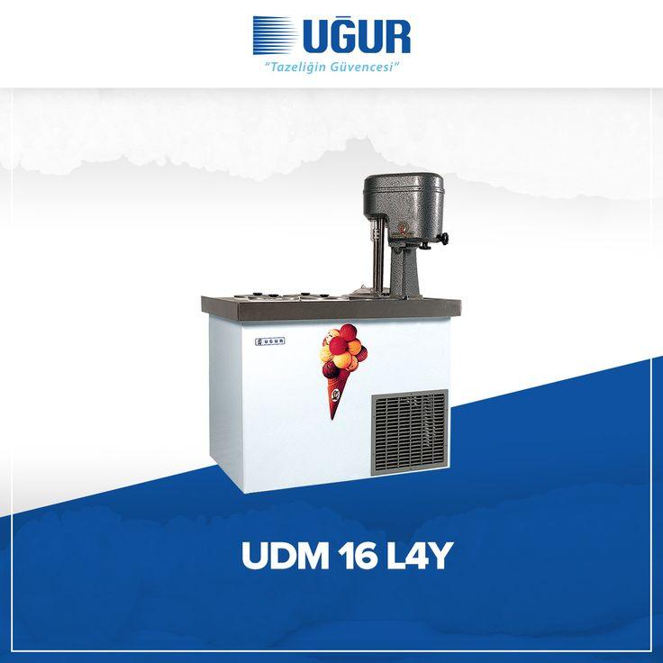 UDM 16 L4Y birçok özelliğe sahip. Bunlar;  220-240 V salamuralı soğutma sistemi, kromdan yapılmış, hijyenik karıştırma tankı, cyclopentane izolasyonlu yekpare gövde ve dikdörtgen ve yuvarlak gözlü muhafaza seçenekleri. #uğur #uğursoğutma