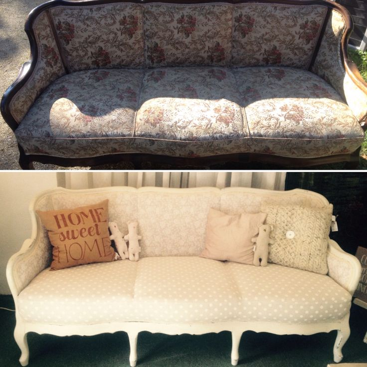 Upcycled beautiful sofa by Balogh Gyerekek. Painted with #AnnieSloan