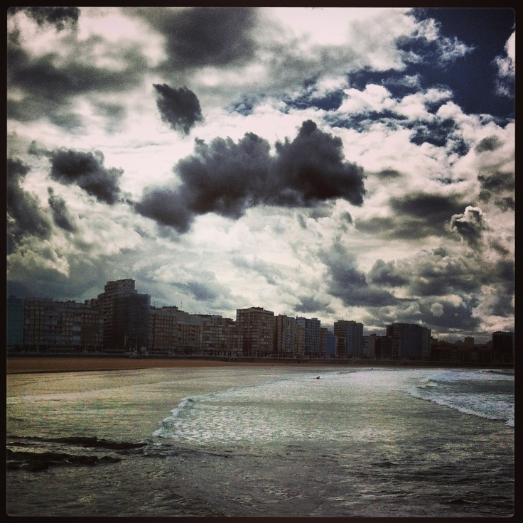 Playa en Gijon