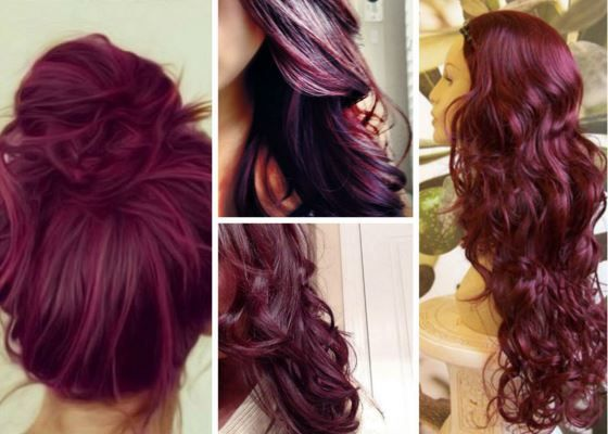 Plum Hair Color Dye, Deep Black Plum Ideas for Brown Hair, Black Hair, Purple, Burgundy Plum Hair Dye