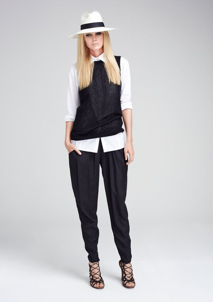 Cut from luxurious silk crepe de chine, the Millenea Soft Pant is a gently tailored pant with boho appeal. The relaxed fit presents an elasticised waist with pretty tie detail. Tapered for a modern shape, each leg is accented with invisible ankle zips.   Styling Notes: A beautiful wardrobe staple for this season's easy-to-wear silhouettes.