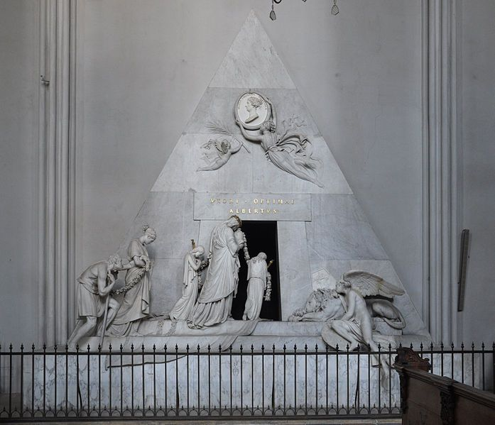 Antonio Canova – Monumento funerario a Maria Cristina d'Austria, 1798-1805, marmo, altezza cm 574, Augustinerkirche, Vienna.