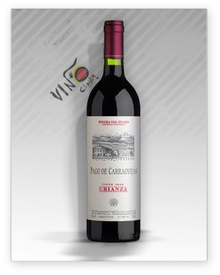 Pago de Carraovejas Crianza es un vino de D.O. Ribera del Duero, elaborado con las varietales Tinta Fina 80% y Cabernet Sauvignon 20%. Crianza de 12 meses en barricas de roble francés y americano. #vino #riberadeduero #wine