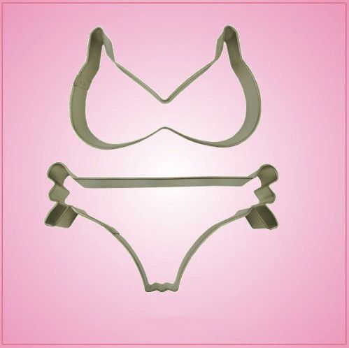 Detailed Bikini Cookie Cutter Set